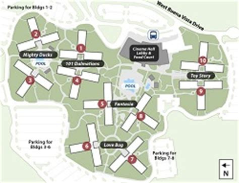 all resort map preferred rooms disney s all resort