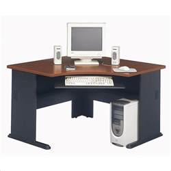 Computer Corner Desks Bush Furniture Series A Corner Wood Hansen Cherry Computer Desk Ebay