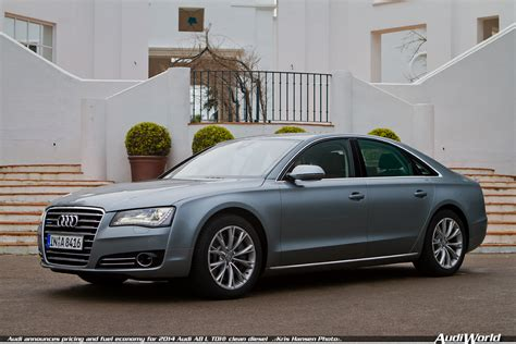 2014 audi a8 tdi audi announces pricing and fuel economy for 2014 audi a8 l