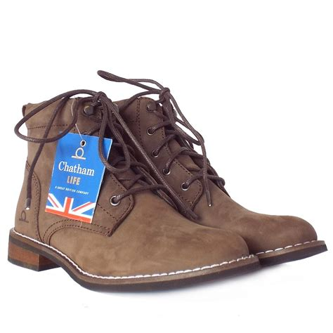 brown womans boots chatham marine brown s modern casual lace up