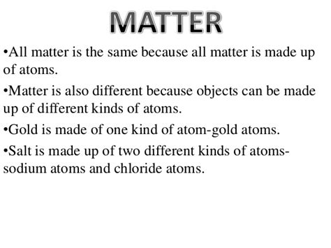how is matter created lesson 1 intro to matter