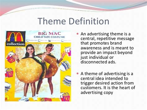 themes and definition advertising theme