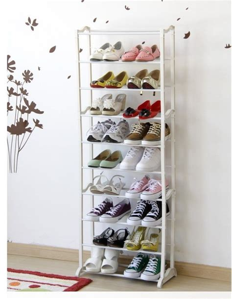 Rak Sepatu Plastik 2 Susun rak sepatu ajaib susun 10 tingkat tuantoko