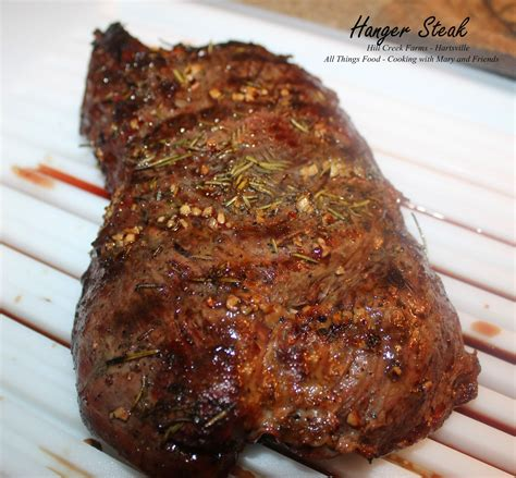 cooking with mary and friends grilled hanger steak