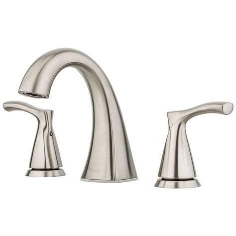 bathroom faucets brushed nickel widespread shop pfister masey brushed nickel 2 handle widespread bathroom faucet at lowes com