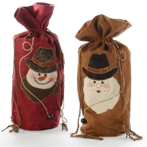 felt western holiday gift bag christmas and winter sale