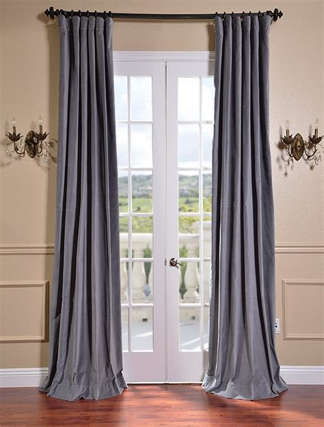 cotton draperies chinchilla grey vintage cotton velvet curtains drapes ebay