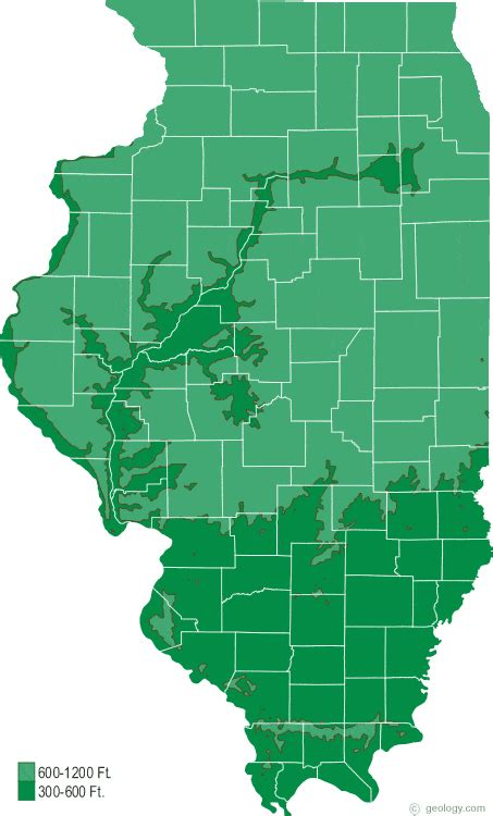 illinois physical map illinois physical map and illinois topographic map
