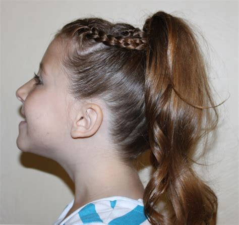 hair braided into pony tail 2 braids into ponytail hairstyles ideas
