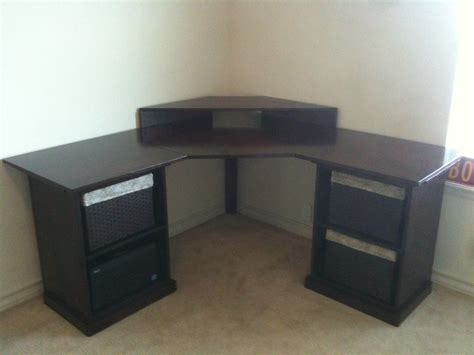 diy corner desk plans corner desk do it yourself home projects from white