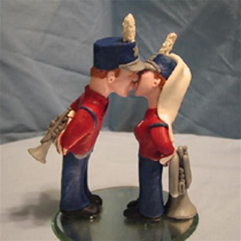 tenor sax amp colorguard for a cake topper custom order