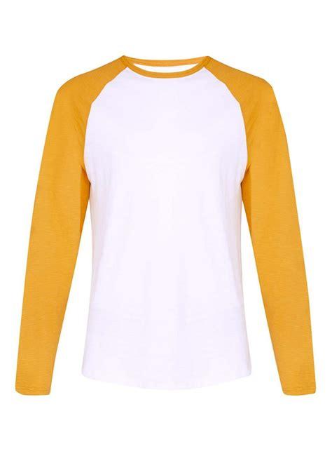 Kaos Tshirt Wings Esports Putih yellow white slub sleeve raglan basic plain t shirt buy raglan sleeve t shirt