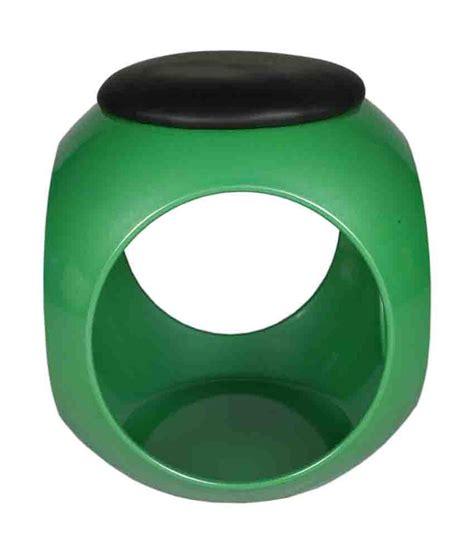 ventura green black plastic stool buy at best