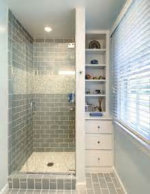 small tile shower 35 blue gray bathroom tile ideas and pictures