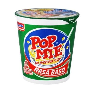 Pop Mie Baso 24 Cups jual pop mie rasa baso mie instan cup 75 gx24pcs
