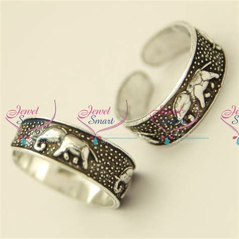 tr5230 silver 925 toe rings elephant design comfortable
