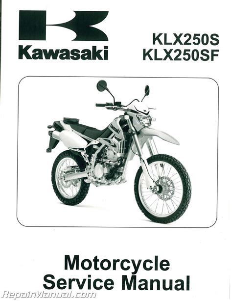 Kawasaki Motorcycle Service by 2009 2013 Kawasaki Klx250t Motorcycle Service Manual