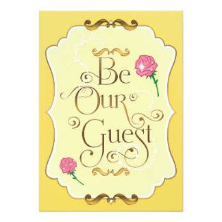 be our guest cards invitations greeting photo cards