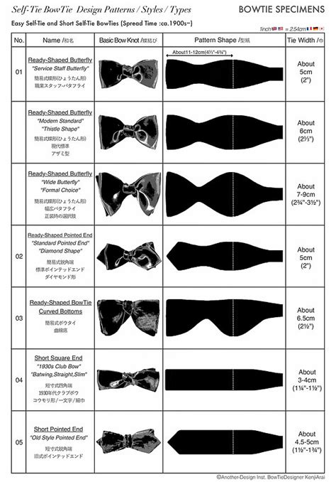 Tie Pattern Types | self tie bowtie styles types design patterns easy short