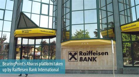raiffeisen bank international bearingpoint s abacus platform taken up by raiffeisen bank