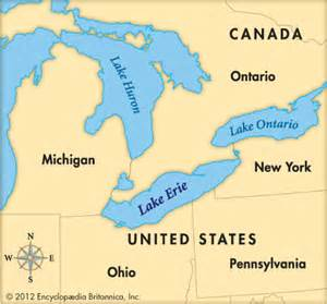 lake erie map canada erie lake encyclopedia children s homework help