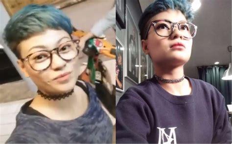 mirip stroke wajah wanita ini terus terusan lumpuh karena wow biru kehijauan cantiknya rambut baru zila seeron