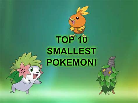 the smallest the 10 smallest national dex kanto johto hoenn sinnoh pokedex