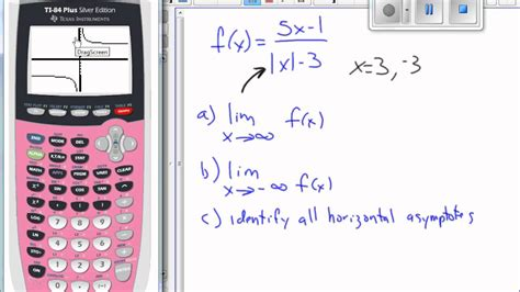 graphing calculator with table use calculator graph and table to find limits as x
