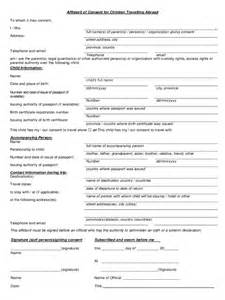 consent form template for children travel consent form 2 free templates in pdf word excel