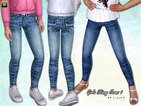 Child Sims 3 Jeans   lillka s girls skinny jeans 1