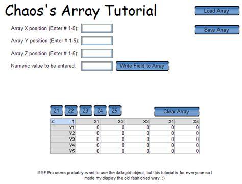 tutorial c array chaos s array tutorial acervo do mmf2