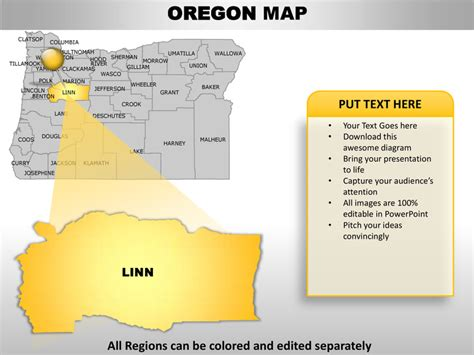 Usa Oregon State Powerpoint County Editable Ppt Maps And Templates Oregon State Powerpoint Template