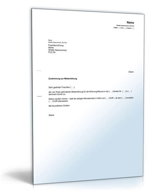 Vorlage Anschreiben Mieter Zustimmung Zur Mieterh 246 Hung