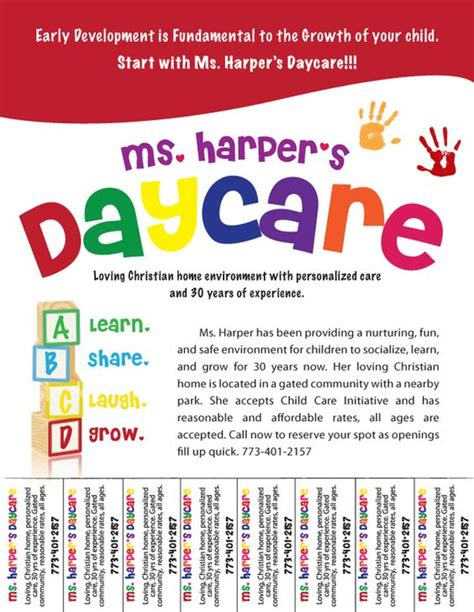 child care flyers templates free daycare flyers follow lauren ashley barnes
