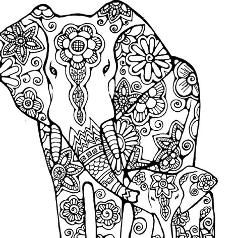 coloring pages of animals and flowers fresh animal coloring pages elephang mandala gallery