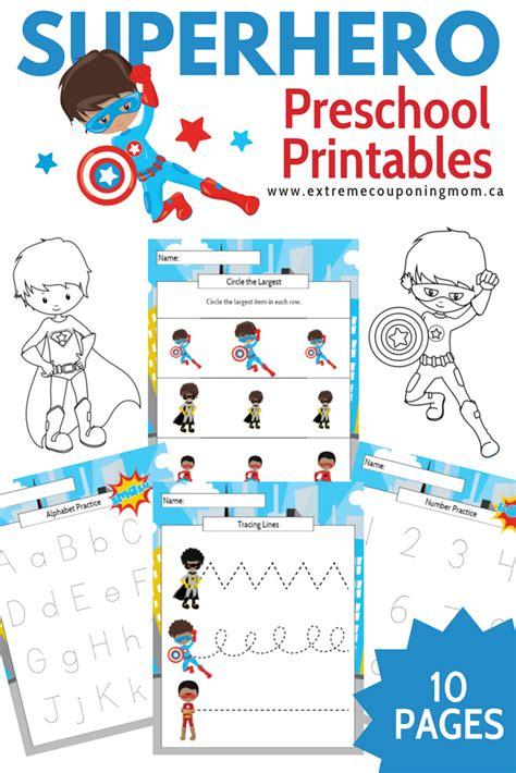printable superhero number cards boy superhero preschool learning printable package