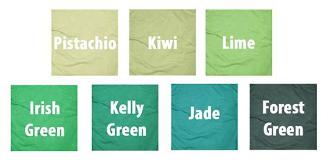 popular shades of green shirt color guide greens classb 174 custom t shirts
