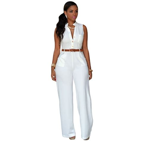 brand womens rompers jumpsuit pant elegant white spring summer ladies overalls casual bodysuit