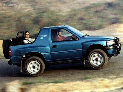 opel frontera 1995 opel frontera sport specs 1995 1996 1997 1998