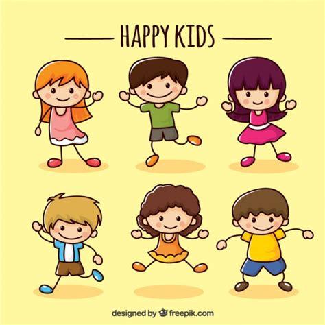 imagenes caricaturas alegres colecci 243 n de ni 241 os felices descargar vectores gratis