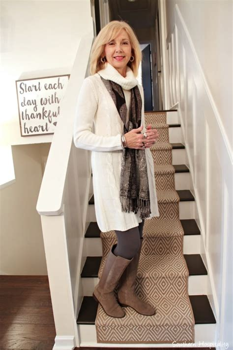 Fashion over 50: Winter White Sweater Dress   Southern