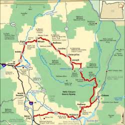 hells oregon map hell s scenic byway oregon