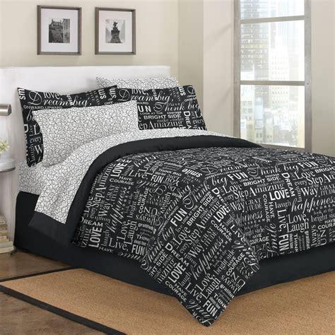 girl teen bedding black white live love laugh teen girl bedding twin full