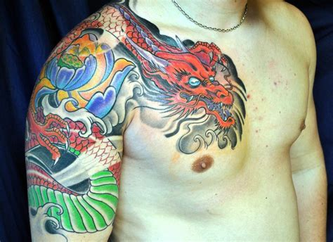 coloured dragon tattoo designs 22 unique japanese tattoos designs