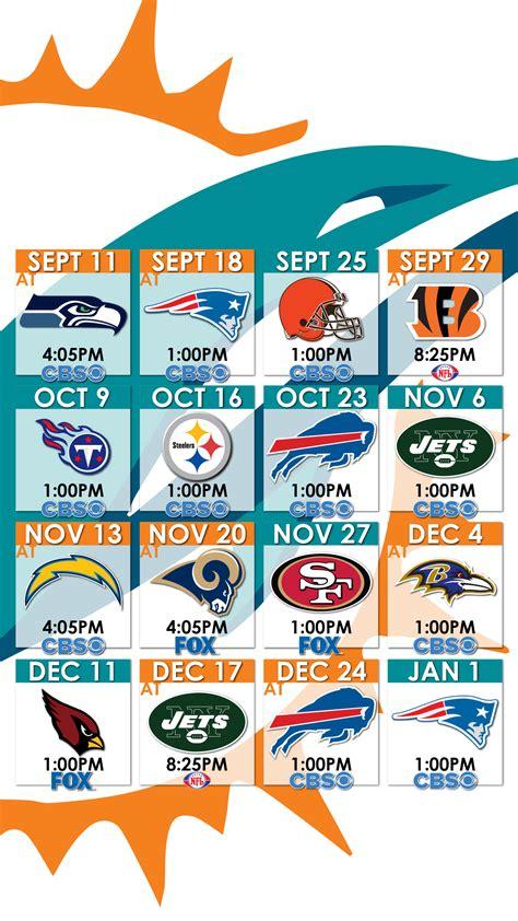 Miami Dolphins Schedule 2017 Wallpaper