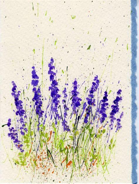 lavender paint how to make splattered paint flower cards flower cards