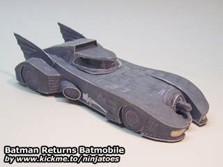 Batmobile Papercraft - batman returns batmobile ninjatoes papercraft webpage