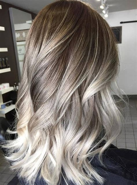 platinum hair with dark highlights for women60 years old platinum blonde highlights on dark blonde hair 60 balayage