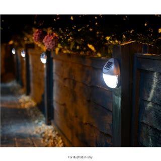 solar powered fence lights pk garden solar lights