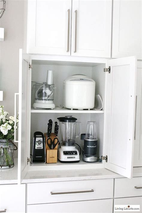 Ideas To Organize Kitchen Cabinets best 20 kitchen appliance storage ideas on pinterest